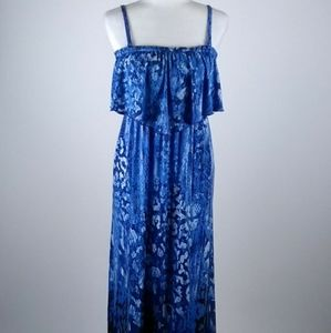 Soma blue summer  maxi dress size medium